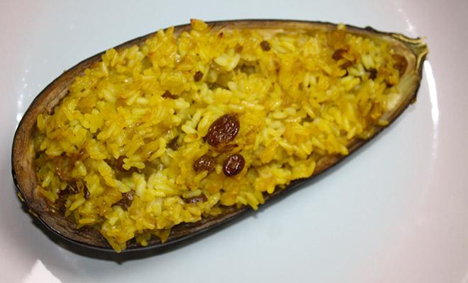 Recette Aubergines farcies au riz