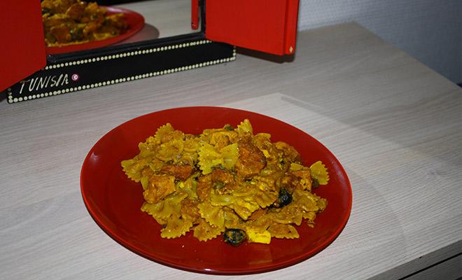 recette tunisienne makrouna zaara pates au curcuma