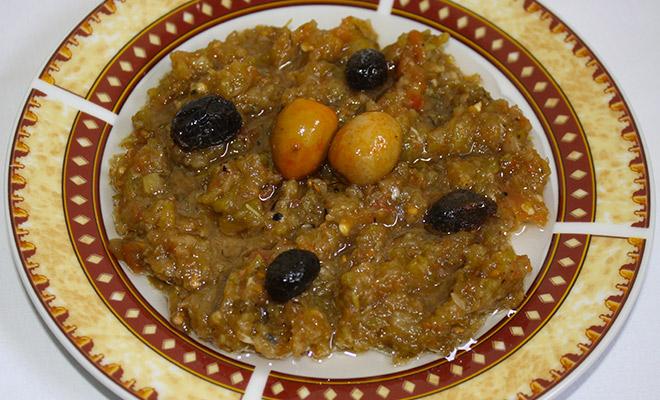 Recette Tunisienne salade mechouia