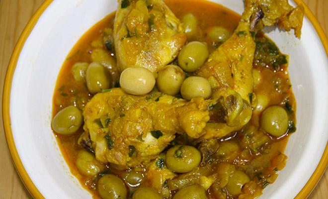 recette marocaine tajine poulet aux olives