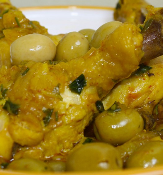 recette tajine poulet aux olives