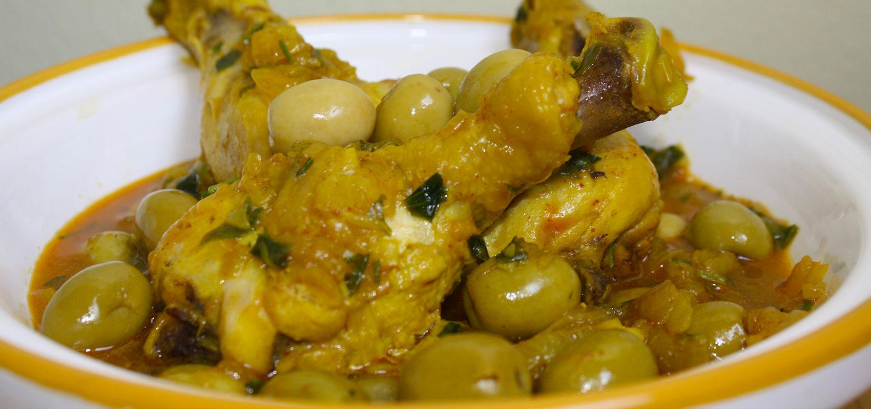 Recette tajine de poulet aux olives recette marocaine - Recette de cuisine algerienne traditionnelle ...