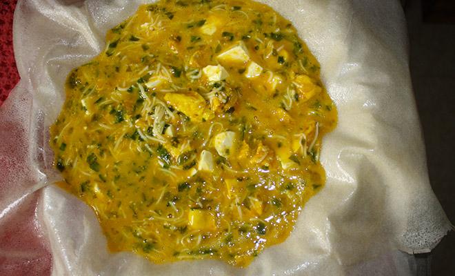 recette tunisienne tajine malsouka avant cuisson