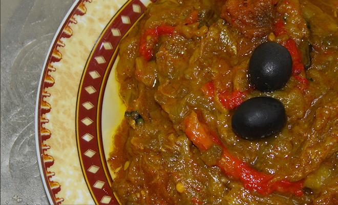 recette marocaine zaalouk puree aubergines 1