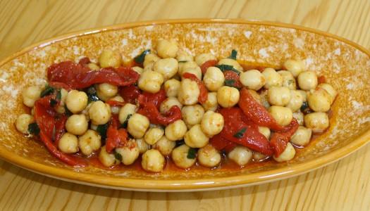 Salade de pois chiche et poivrons