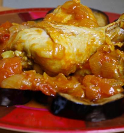 Tajine de poulet et aubergines à l'algérienne