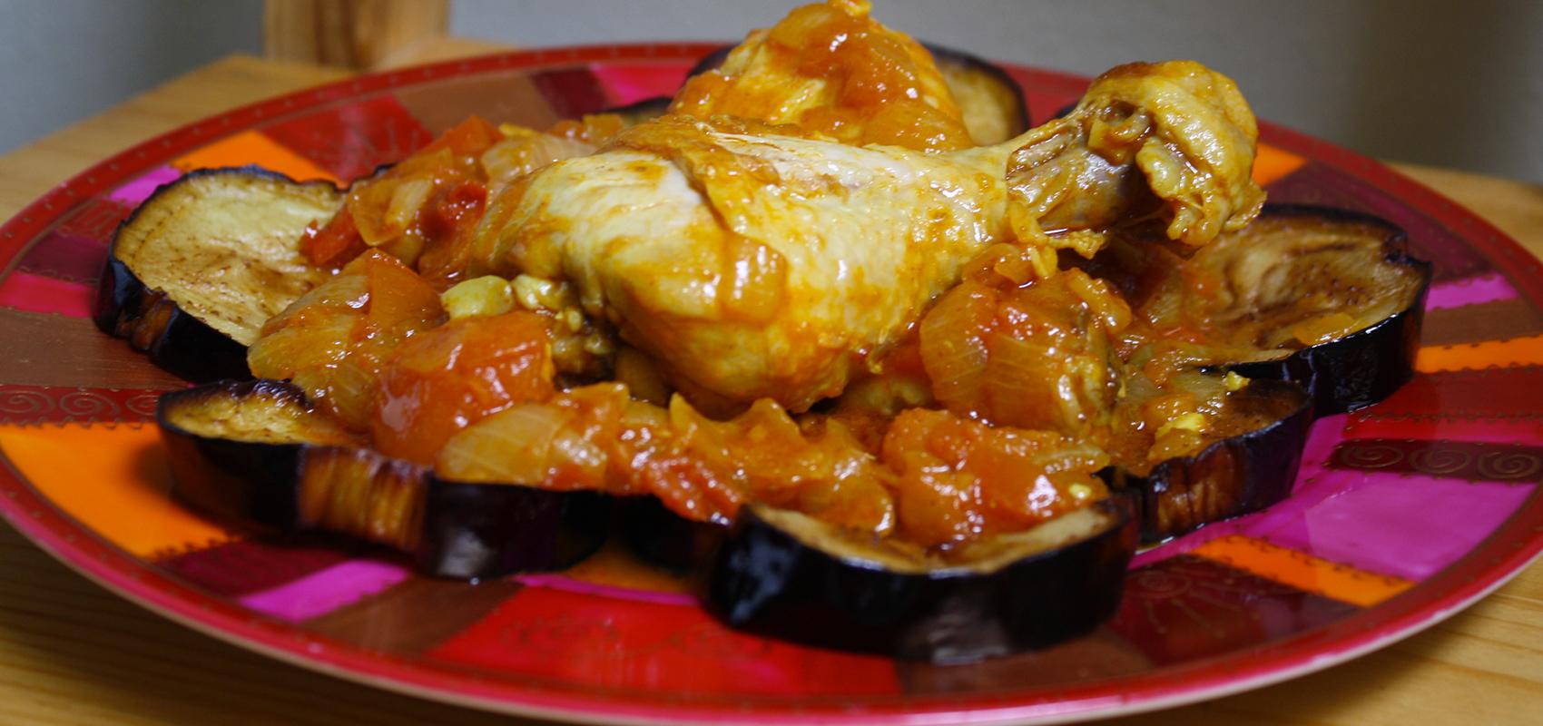 Tajine de poulet et aubergines l 39 alg rienne cuisine du - Recette de cuisine algerienne traditionnelle ...